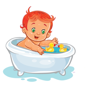 Bathe your baby daily