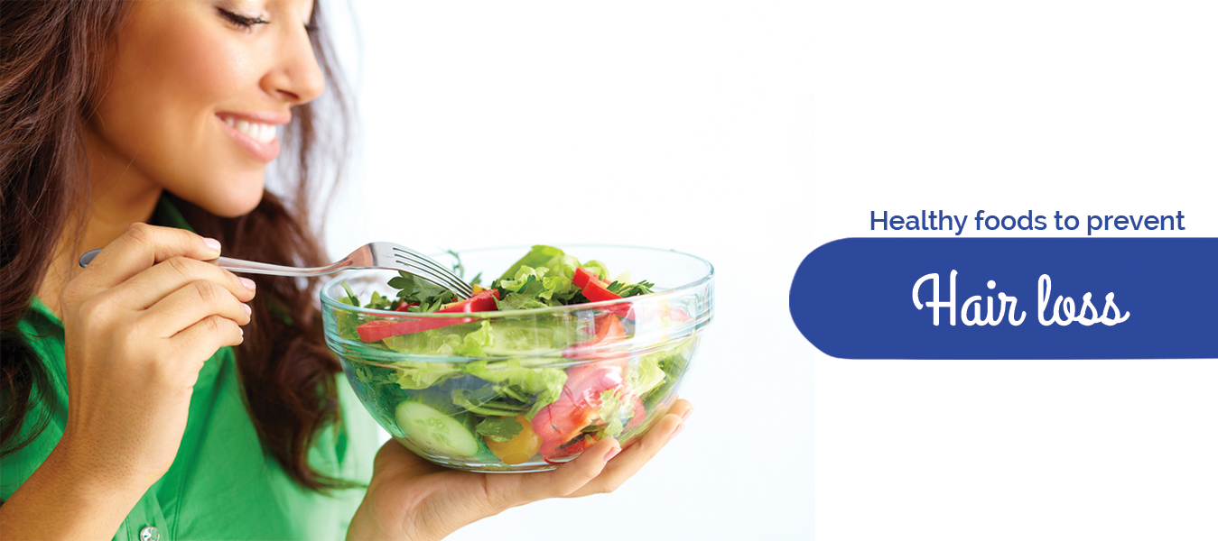 Healthy foods to prevent hair loss
